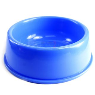 New Dog Puppy Cat Bowl Water Food Feeder Dishes Plastic Bowl