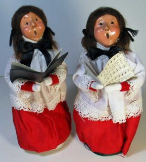 set of 2 byers choice carolers 1983 excellent condition some writing