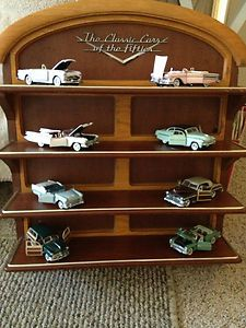 Mint Classic Cars of The Fifties Display Shelf with 8 Cars