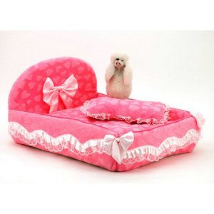 Pet Product Supplies Pet Dog Cat Bed Princess Lace Sofa House Cushion