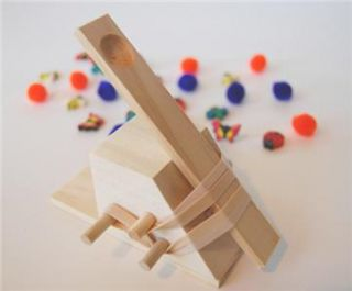 Catapult for Kids Wooden Toy Handcrafted