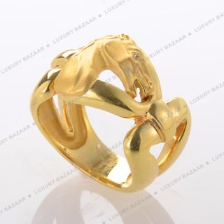 Carrera Y Carrera 18K Yellow Gold and Diamond Horse Ring