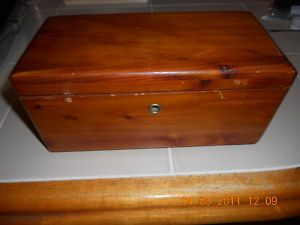 Vtg Lane Mini Cedar Chest Jewelry Box RARE Size Mcburne