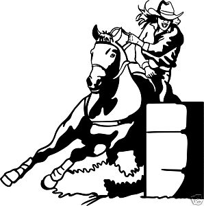 Barrel Racing Decal Western Rodeo Stickers 01 WR 6