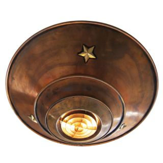 vintage art deco copper ceiling lamp hanging light fixture made of