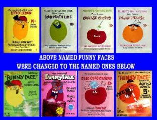 funny face set 4 name changes photo fridge magnets