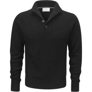 Charles Wilson Mens Wool Blend Button Neck Sweater New