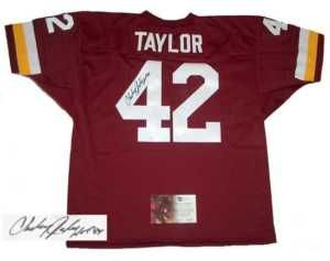 Charley Taylor Signed Auto Washington Redskins Jersey