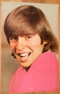 Davy Jones Centerfold Poster Pin Up The Monkees 1967 Double Page