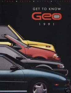 1991 Chevrolet Geo Metro Convertible Storm Sales Book
