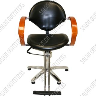 Hydraulic Barber Chair Mat Honey Wood Arm Chairs Mats Beauty Salon