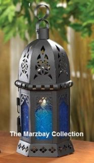 New 20 Lot Ocean Blue Black Candle Lantern Wedding Centerpieces $220