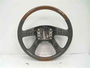 cadillac gmc chevrolet leather wood steering wheel oe