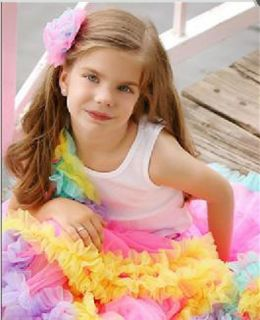 Pink Child Baby Toddler Girls Skirt Princess Bows Pettiskirt Tutu 4 5