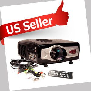 1080p LCD Home Theater Projector PS3 Wii HDMI HD TV V01 797734377934