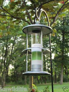 Cherry Valley Gray Ringed Tube Bird Feeder Ravinia