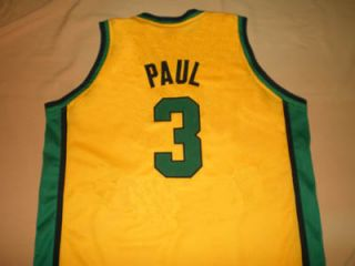 Chris Paul West Forsyth High School Jersey Yellow New Any Size FCL