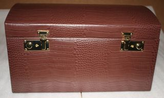 larger view new bey berk brown large leather jewelry box chest up for