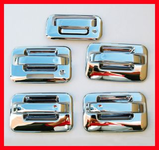 04 11 Ford F150 Chrome Door Handle Covers Bezel 5DR Set