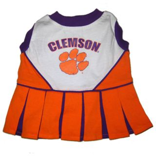 Clemson Tigers NCAA Licensed Pet Dog Cheerleader Dress Outfit