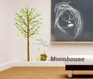 School WALL Sticker Green Tree Classroom ART Mural Decor DECAL A183