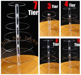 Tier Maypole Acrylic Cupcake Party Wedding Cake Stand