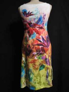 Claire Pettibone Vivid Abstract Tropical Flora Dress XS