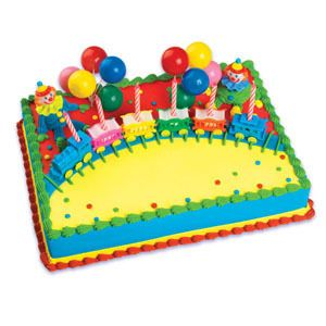 Circus Clown Train Candle Cake Decoration Party Supplies Birthday