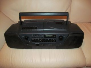 Magnovox Boombox CD Radio Cassette Player Recorder Good Condition