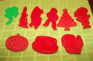 TUPPERWARE Holiday COOKIE Cutters Santa Christmas tree gadgets