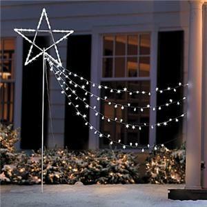 34 inch Shooting Star String Lights Outdoor Christmas Holiday Yard Art