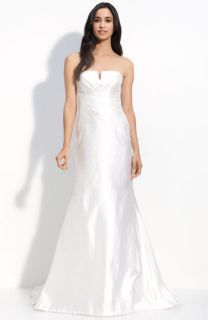 Nicole Miller Strapless Silk Mermaid Gown