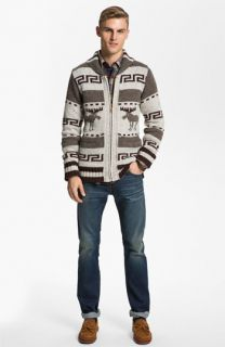 Nudie Sweater, Pendleton Shirt & J Brand Slim Straight Leg Jeans