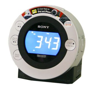 Sony iPhone iPod Dock CD Player Clock Radio FM Docking Station IFCD3IP