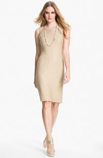 St. John Collection Sequin Metallic Knit Dress