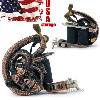 10 Wrap Coils Tattoo Machine Liner Shader Gun Charming Model Ship from