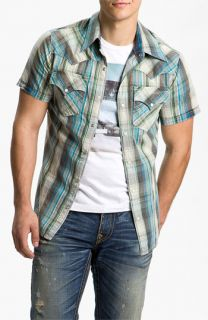 True Religion Brand Jeans Mick Plaid Woven Shirt