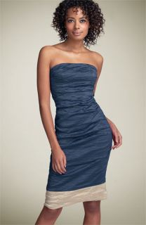 Nicole Miller Strapless Two Tone Dress
