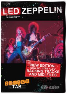 LED ZEPPELIN Ultimate Guitar TAB Digital Collection CD Rom Play Along