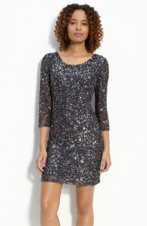 Pisarro Nights Sequin Mesh Sheath Dress