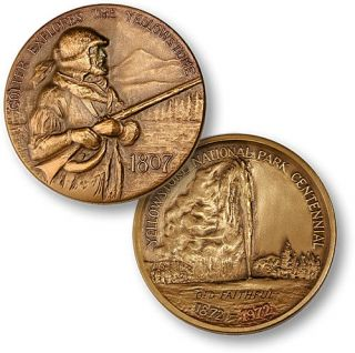 Yellowstone National Park Colter Medallic Art Co Medal