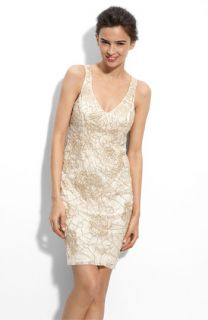 Sue Wong Beaded & Embroidered Lace Dress