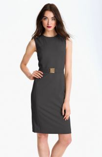 Calvin Klein Belted Sleeveless Sheath Dress