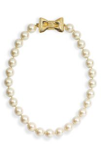 kate spade new york all wrapped up glass pearl short necklace