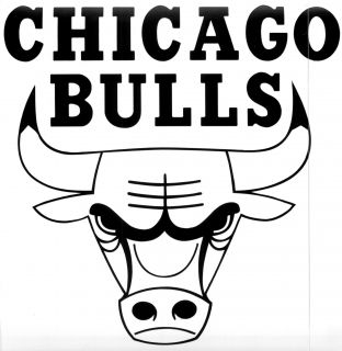 Chicago Bulls Vinyl Sticker Decal Wall or Window 4 to 24 Many Colors