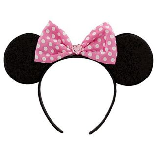Disney Womens Girls Minnie Mouse Pink Headband Dress Up Costume