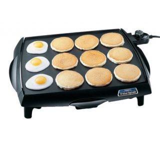 Presto Tilt n Drain Big Griddle Cool Touch Electric Griddle