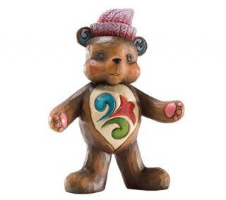 Jim Shore Heartwood Creek Mini Teddy Bear Figurine —