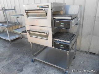 Double Stack Lincoln Impinger 1162 Conveyor Pizza Oven