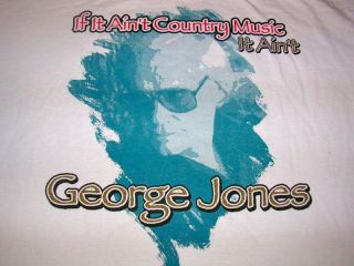 2000 George Jones Country Rock Band Tour Shirt